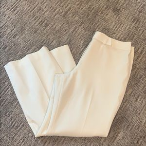Ann Taylor Loft Cream Wide Leg Pants Sz 14P